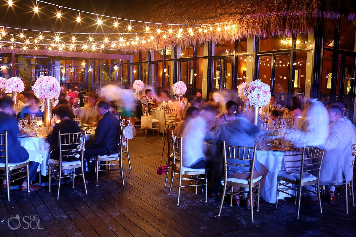Wedding Reception at Tequila Terrace Now Sapphire Riviera Cancun