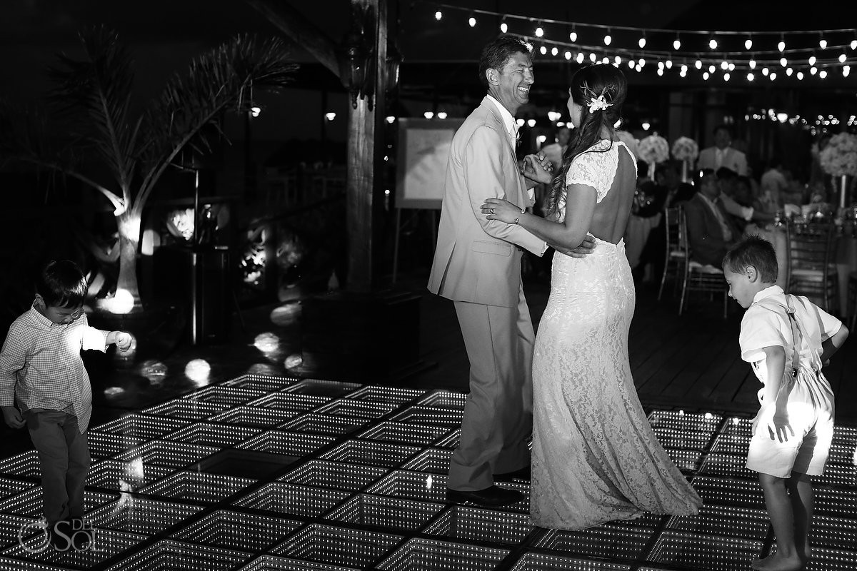 bride and father dance wedding reception Now Sapphire Riviera Cancun