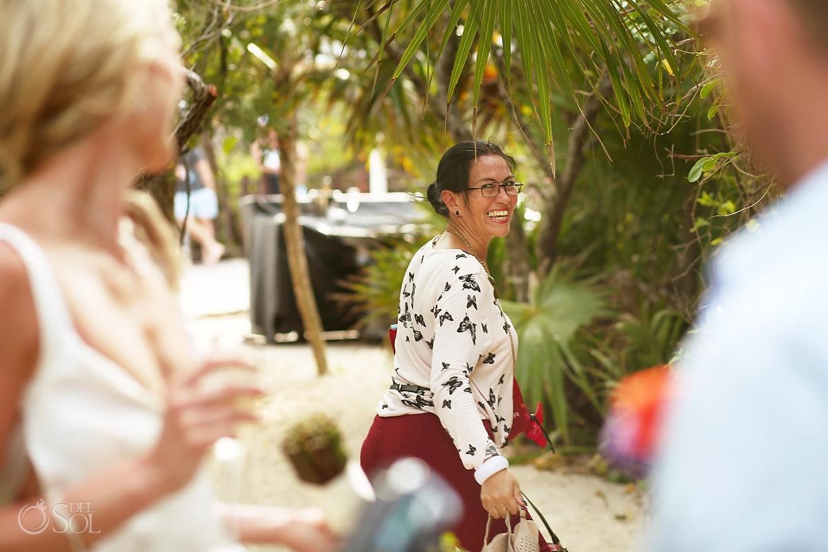 officiant smiling Elopement Paradisus, Playa del Carmen, Mexico