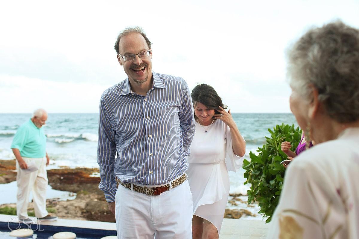 wedding ceremony exit, Casa La Roca, Puerto Aventuras,