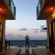 artistic architectural sunset couple silhouette, Casa la Roca Family Portraits, Puerto Aventuras