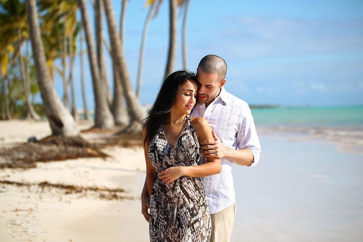 Carribean Beach portraits, blue sky palm trees, Sanctuary Cap Cana Resort, Dominican Republic