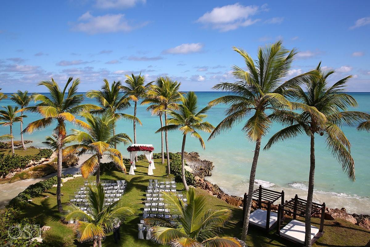 Carribbean beach ocean garden wedding set up, Sanctuary Cap Cana Resort, Dominican Republic