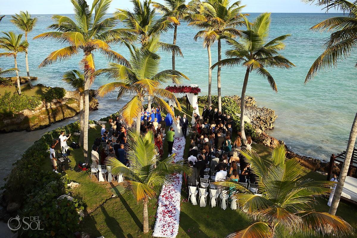 Carribbean ocean beach garden ceremony, Wedding Sanctuary Cap Cana Resort, Punta Cana, Dominican Republic