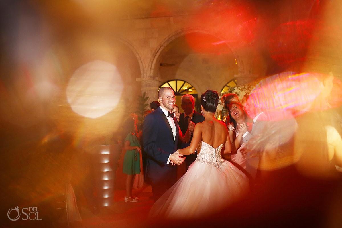 bride groom dancing, wedding reception, Sanctuary Cap Cana Resort, Dominican Republic