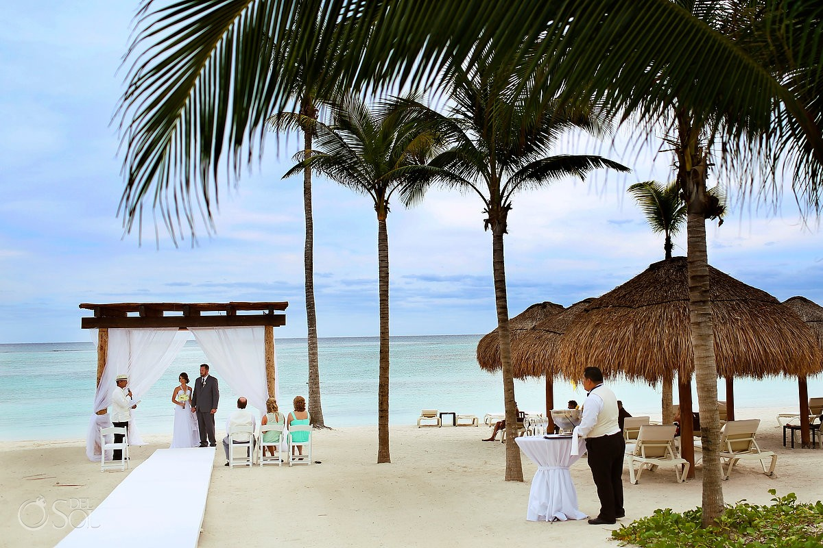 beautiful beach Wedding at Secrets Akumal, Riviera Maya, Mexico