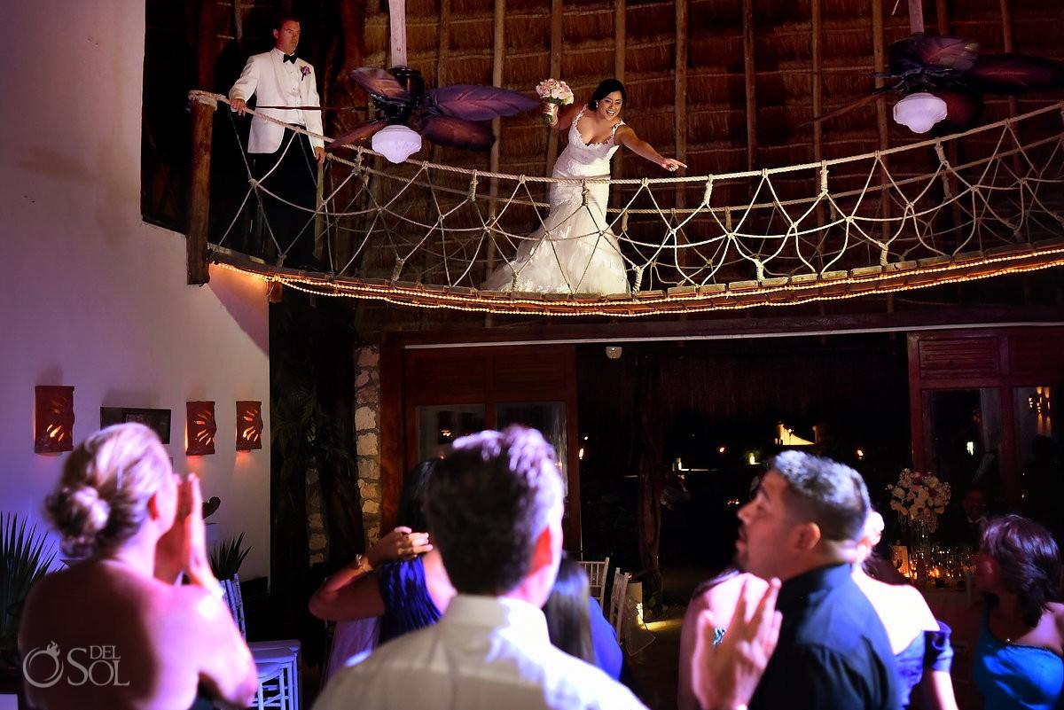 bouquet toss, palapa jack, Wedding reception Hacienda Del Secreto, Riviera Maya, Mexico