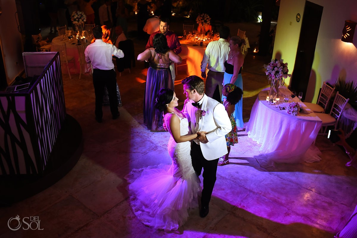 bride groom dancing, palapa jack, Wedding reception Hacienda Del Secreto, Riviera Maya, Mexico