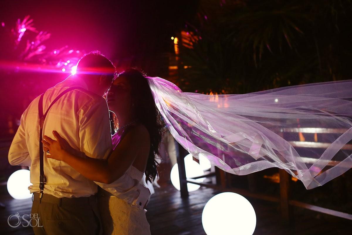 first dance, Rain Wedding reception Hotel Grand Sunset Princess, Playa del Carmen, Mexico