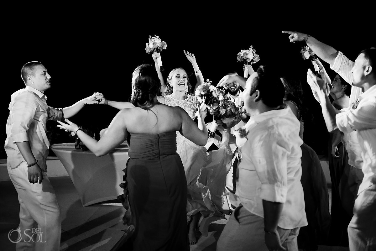 me melia cancun beach wedding reception