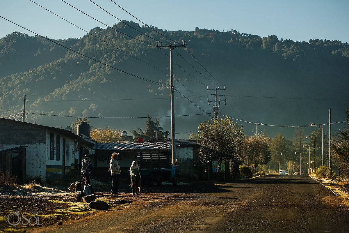 Travel photography road Michoacan