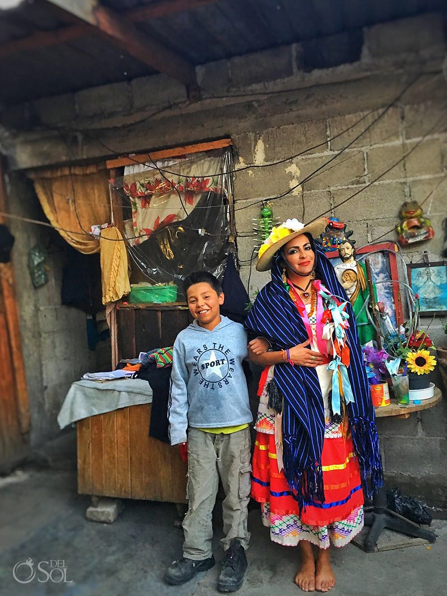travel photography experience mexico Sol Tamargo wearing Traditional Michoacan dress
