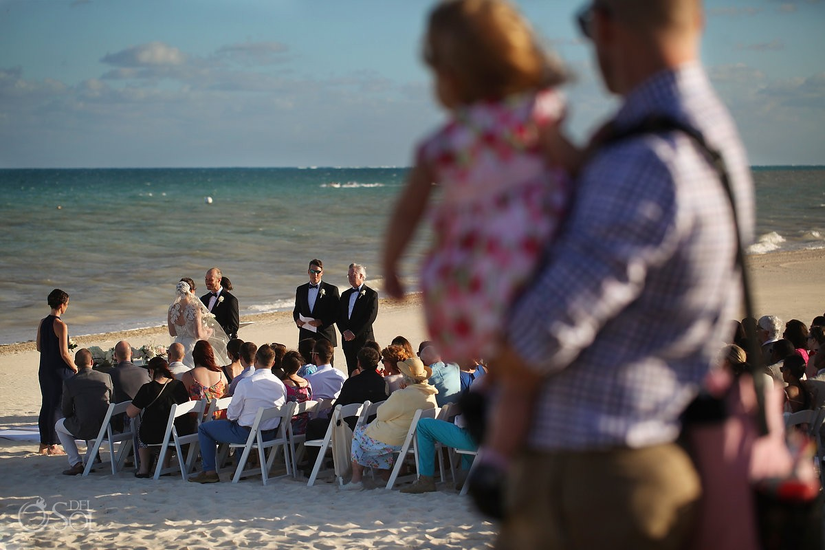 beach wedding Moon Palace, Cancun, Mexico