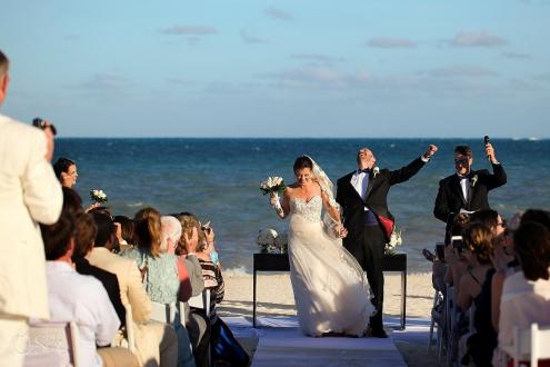 groom celebration beach wedding Moon Palace, Cancun, Mexico