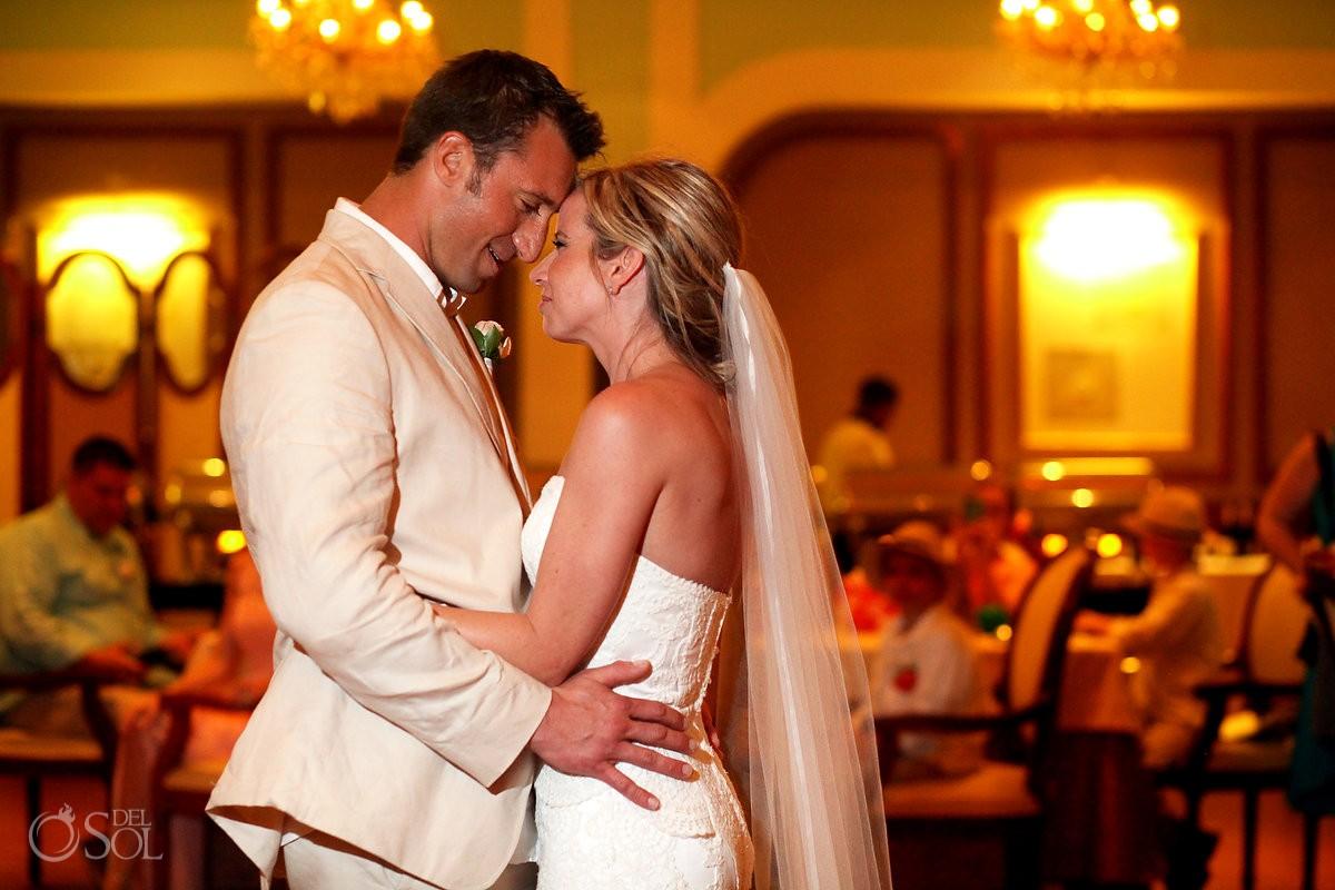 first dance indoor restaurant wedding reception venue, Now Sapphire rain