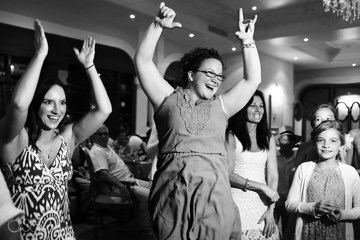 indoor restaurant wedding reception dancing, Now Sapphire rain wedding