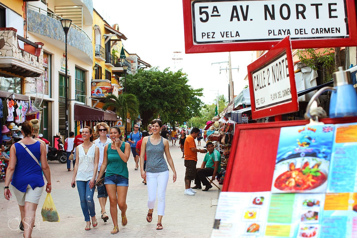 Playa del Carmen 5th avenue portrait street photography. Fun, empowering portraits celebrating beauty strength women