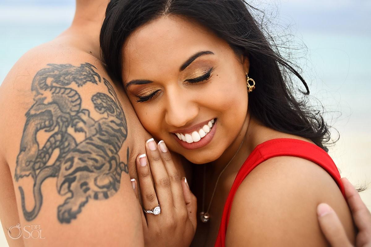 playa del carmen beach portraits tiger dragon tattoo