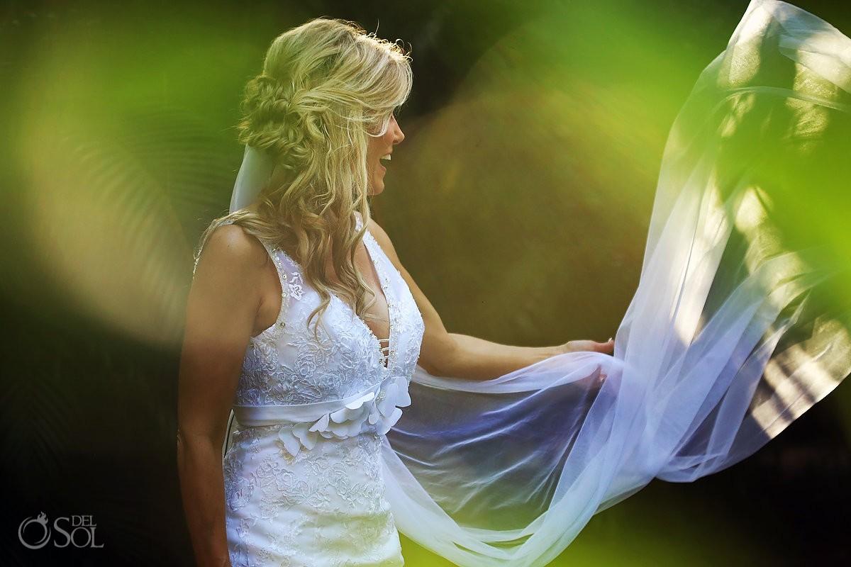 destination wedding photo at Hotel Esencia of gorgeous bride