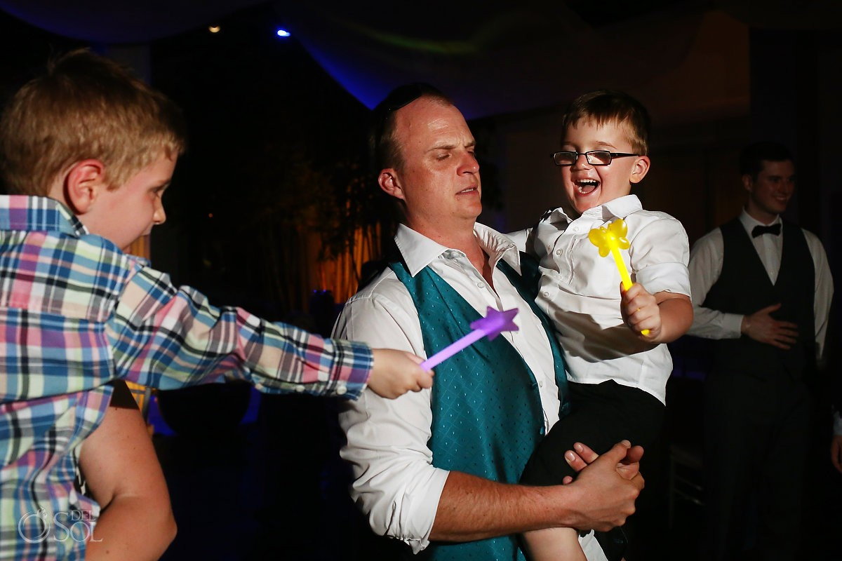 cute kids wedding reception VIP lounge BlueBay Grand Esmeralda, Playa del Carmen, Mexico