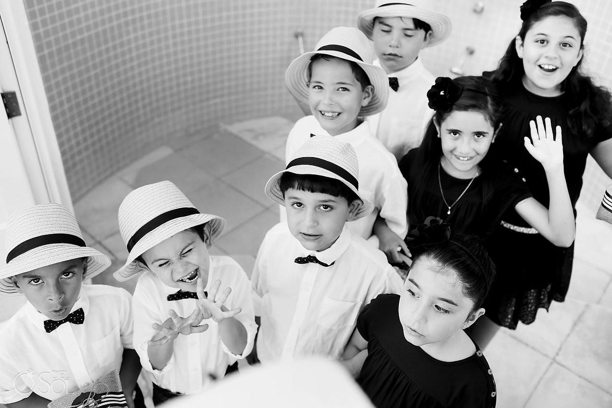 children wedding guests at Porto Fino Condominiums, Cancun