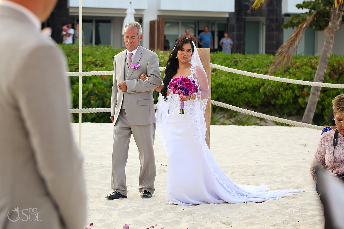 bride entrance Grand Coral Beach Club