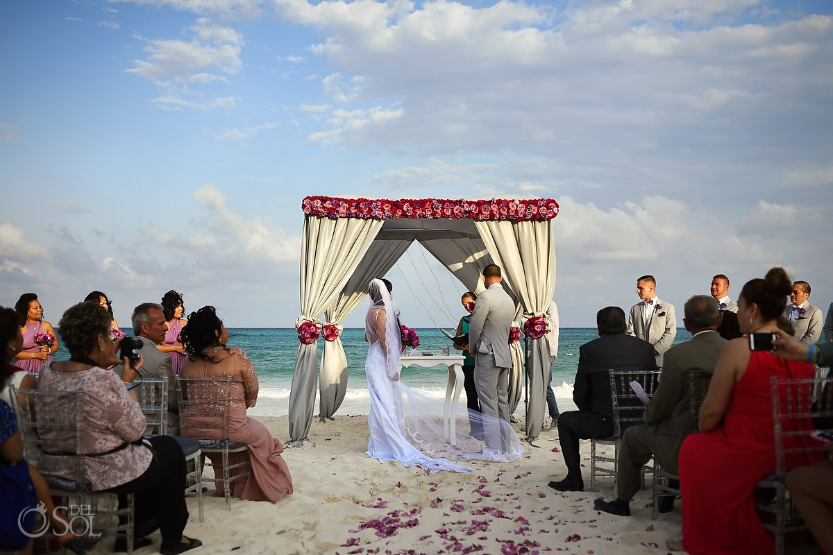 Weddings riviera maya beach wedding ceremony Grand Coral Beach Club