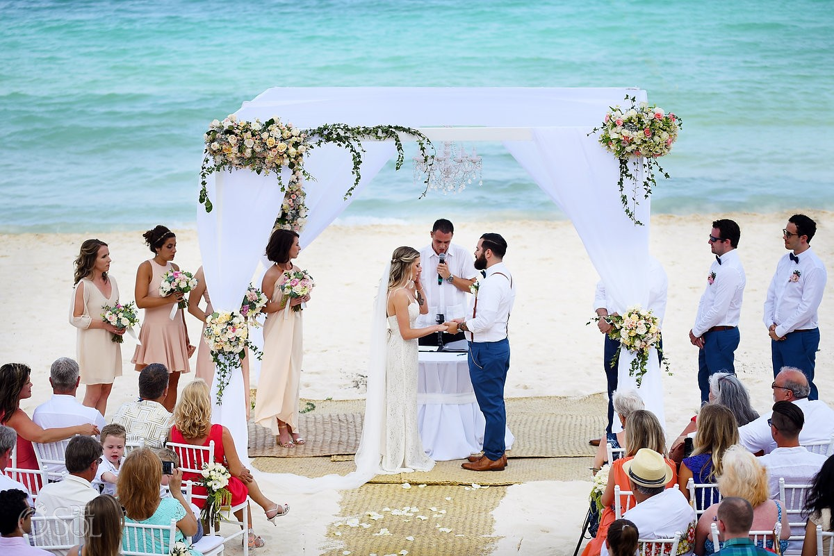 Beach Wedding Ceremony Grand Hyatt Resort Playa Del Carmen Mexico