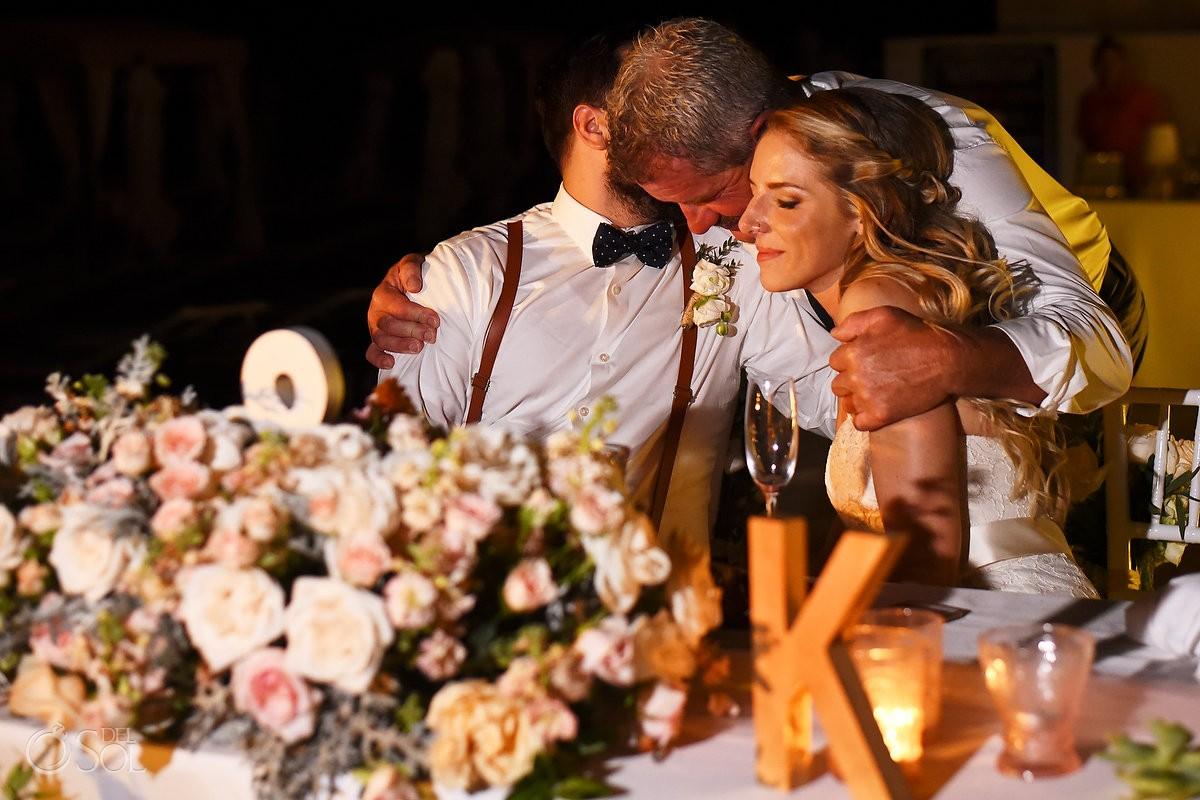 hugs speeches wedding reception Grand Hyatt, Playa del Carmen, Mexico