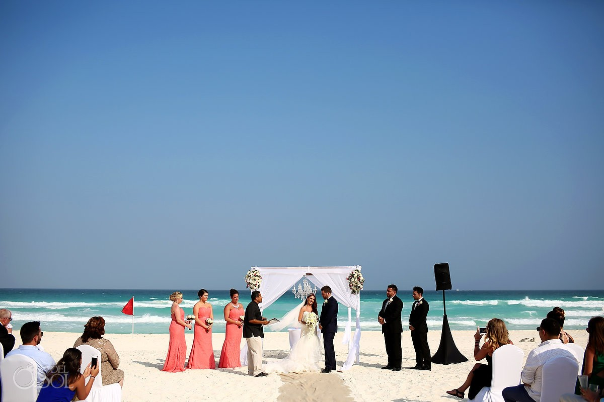 beach wedding Live Aqua Cancun Mexico