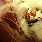 artistic bridal portrait, wedding L ive Aqua Cancun, Mexico