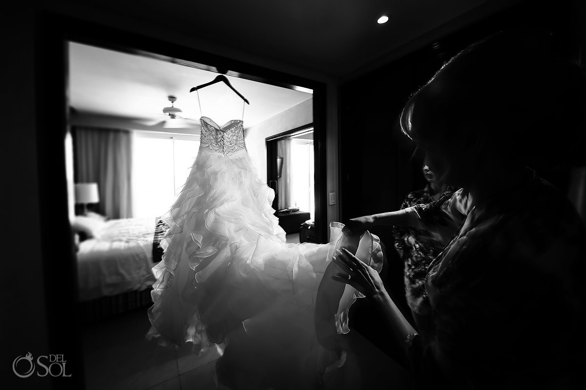 Artistic black and white wedding dress photo Now Jade