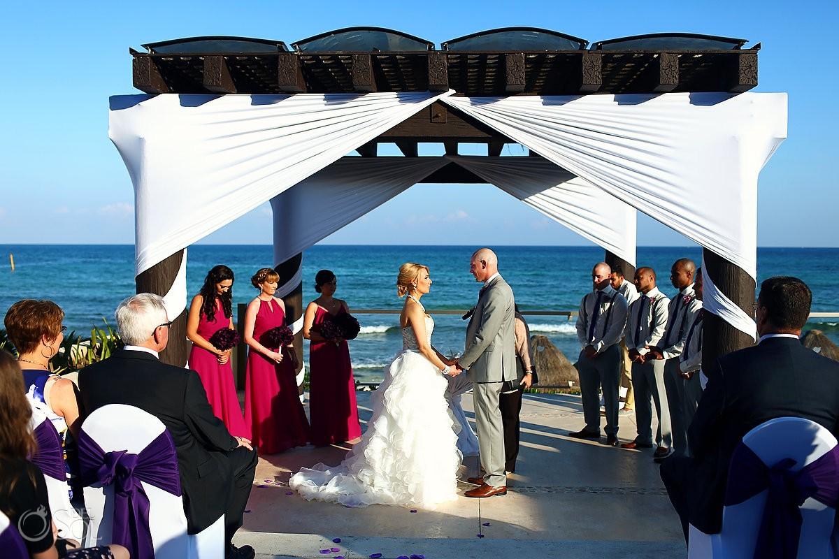 destination wedding Now Jade gazebo pergola, Puerto Morelos Mexico