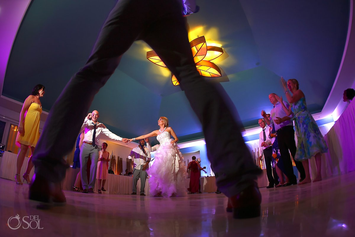 fun wedding reception picture dancing Bamboo Room Now jade
