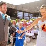 sweet wedding moment beach wedding Now Sapphire Puerto Morellos, Mexico