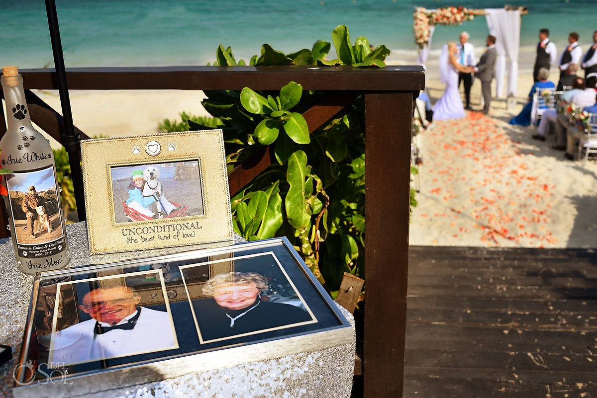 memory table beach wedding Now Sapphire Puerto Morellos, Mexico