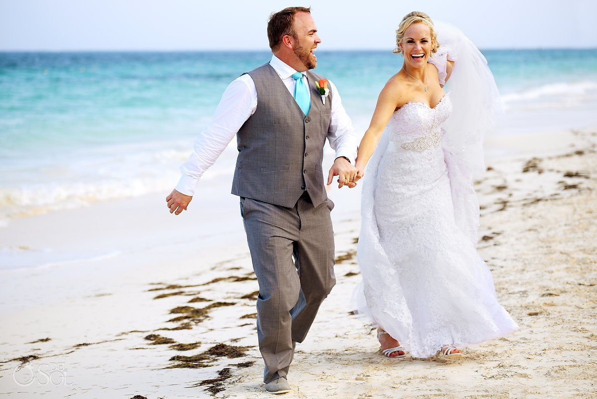 beach wedding portrait Now Sapphire Puerto Morellos, Mexico