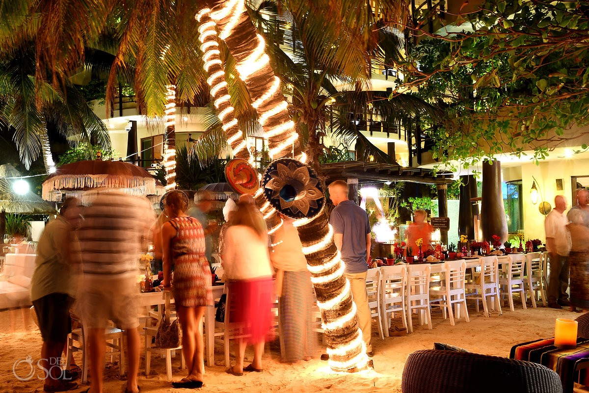 Cenote weddings Indigo Beach club Playa del Carmen Wedding reception