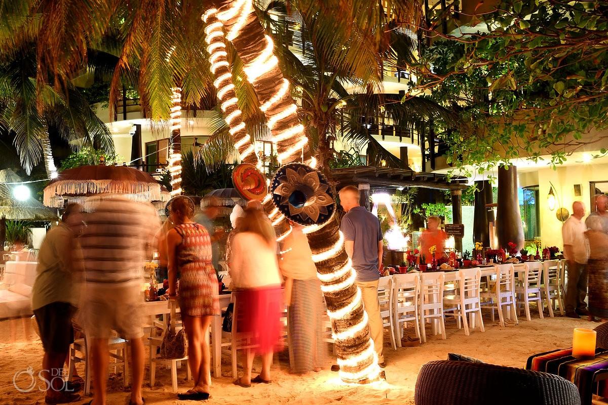 Indigo Beach club Playa del Carmen Wedding reception