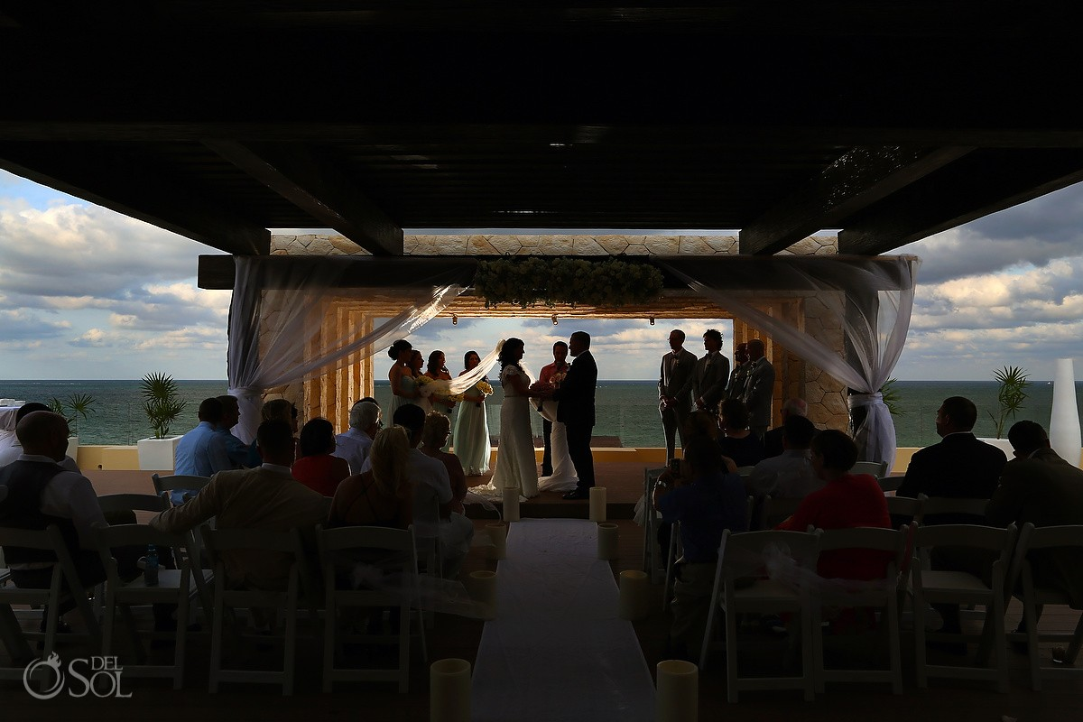 artistic silhouette Royalton Riviera Cancun Sky Wedding Terrace