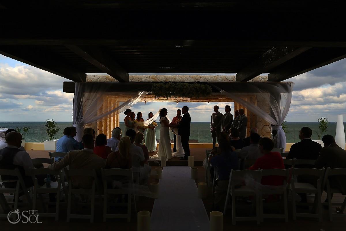 artistic silhouette Royalton Riviera Cancun Sky Wedding Terrace