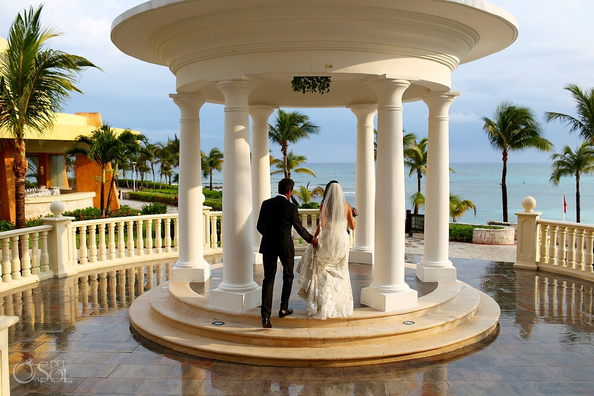 clear beautiful skies colors after rain, Gazebo Destination Wedding Barcelo Maya Palace Deluxe