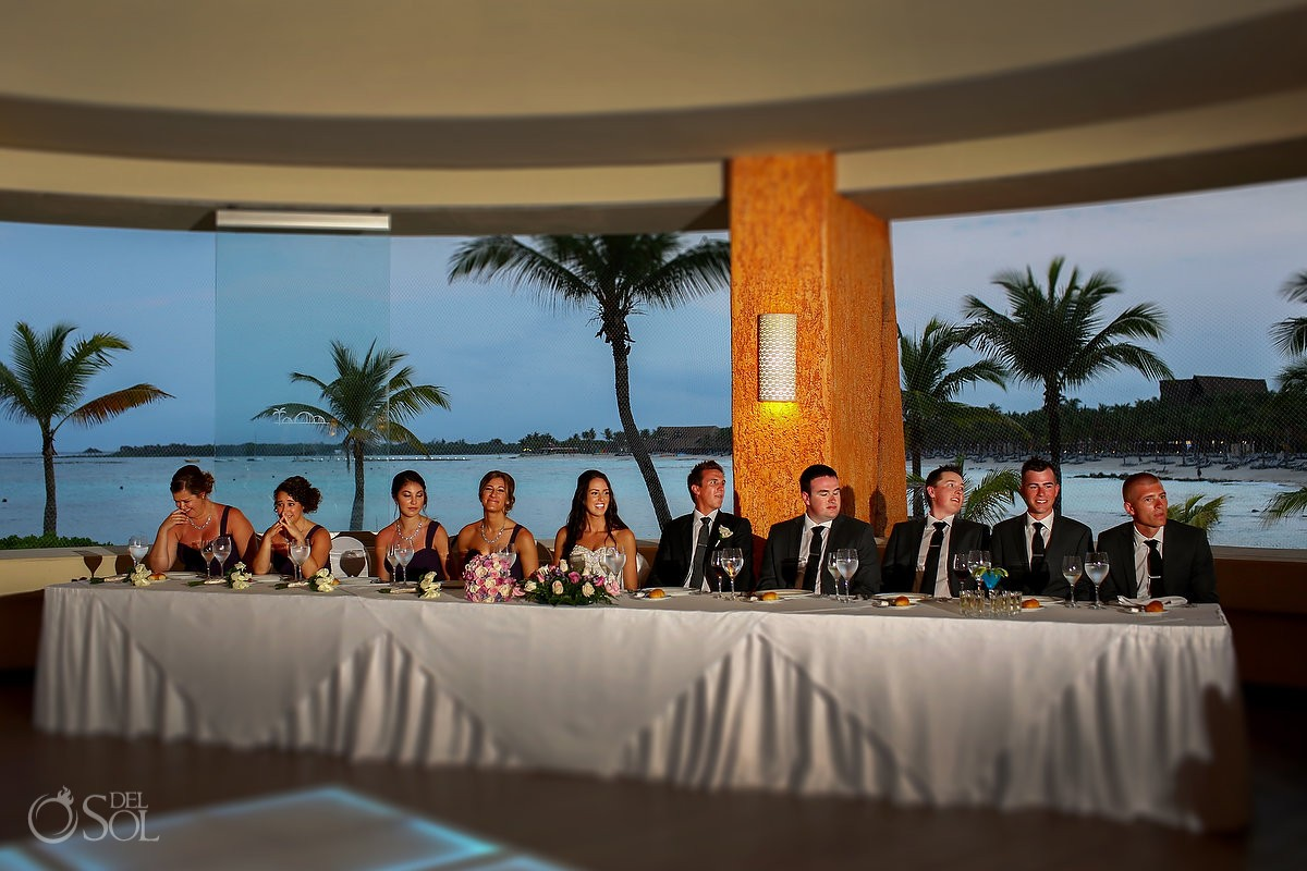 speeches Destination Wedding reception Barcelo Maya Palace Deluxe Goral Grill