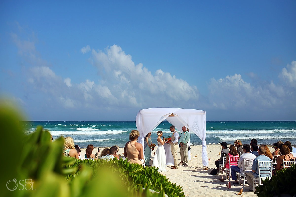 Mexico destination wedding beach Valentin Imperial Maya beach, Playa del Carmen