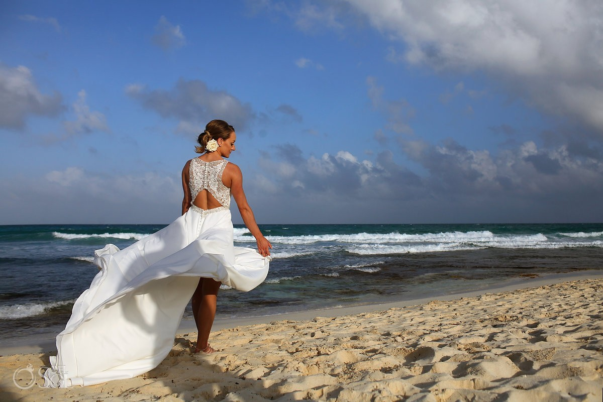 perfect wedding dress for beach ceremony destination wedding Madison James