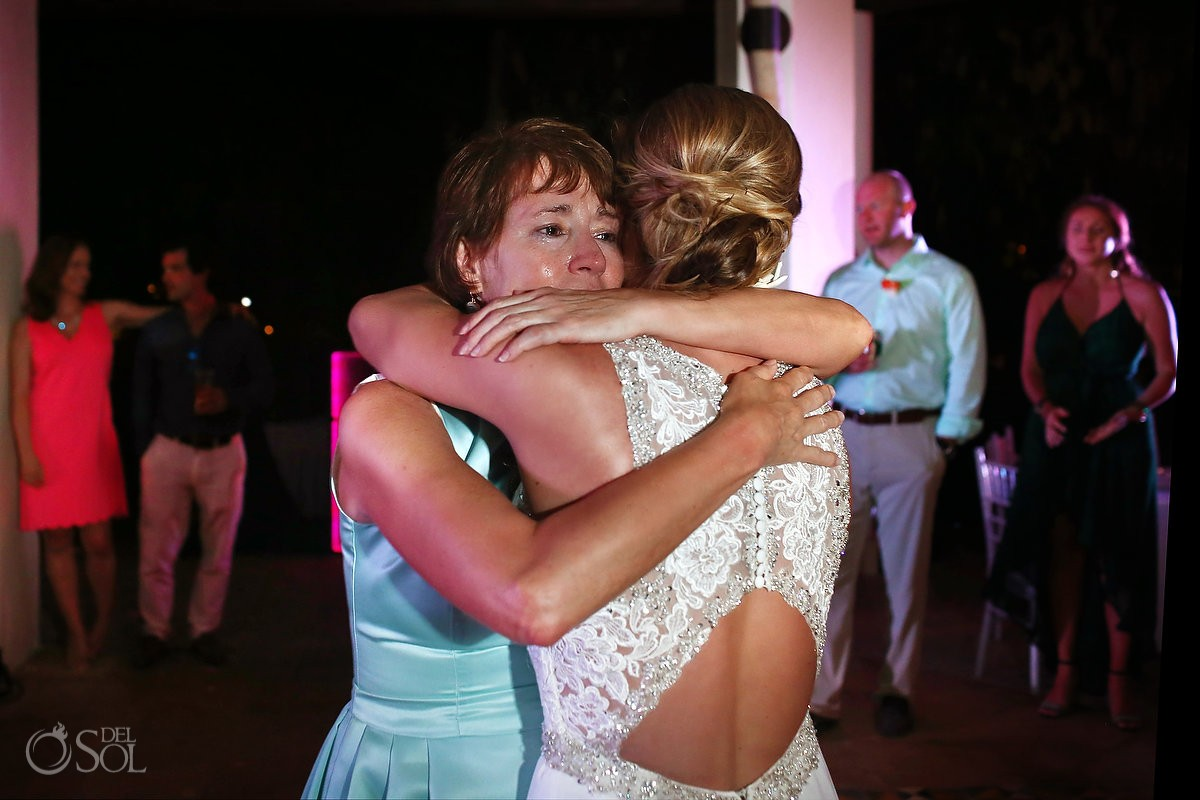 mother daughter first dance emotional family love tears Wedding reception Valentin Imperial Maya