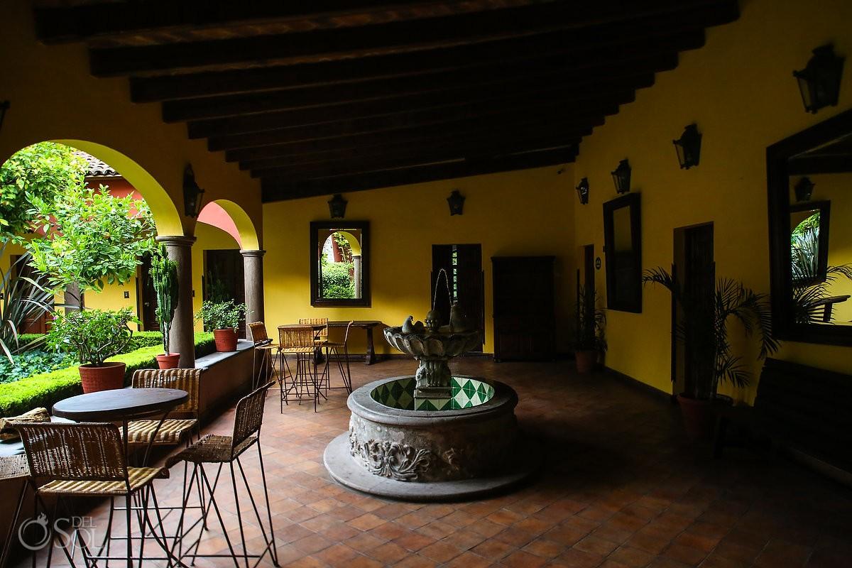courtyard fountain Belmond Casa de Sierra Nevada, San Miguel de Allende