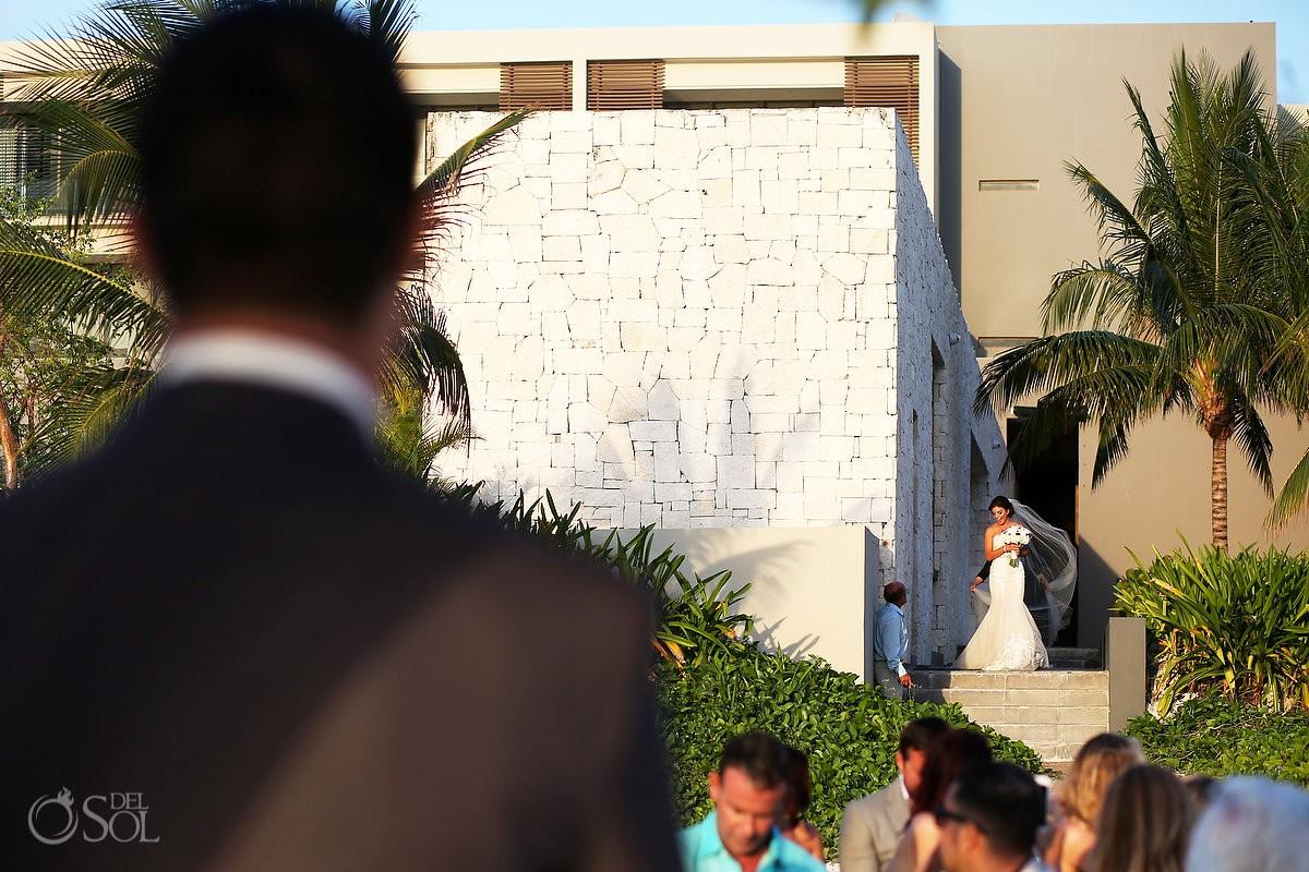 bride entrance Destination Beach Wedding NIZUC Resort, Cancun