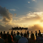 artistic sunset silhouette Destination Beach Wedding NIZUC Resort, Cancun