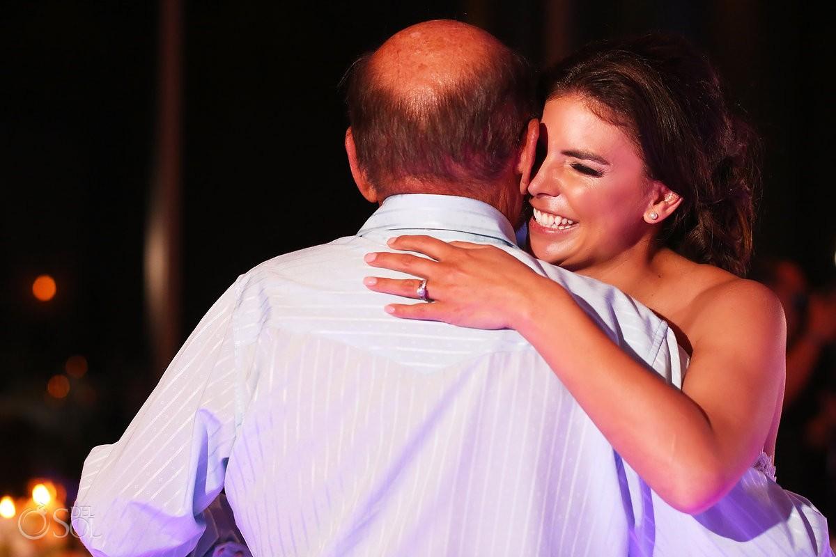 father daughter first dance Destination Wedding reception Nizuc ballroom Cancun